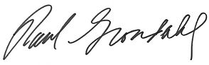 Paul Grondahl signature