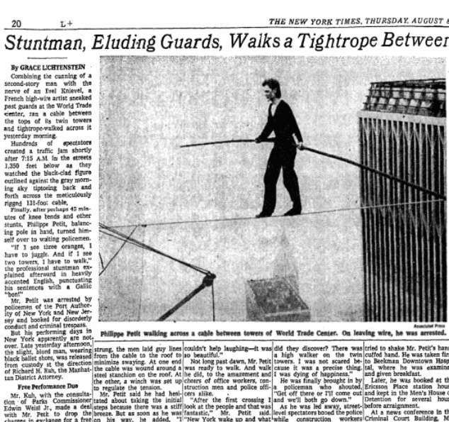 Philippe Petit, Thursday, Oct. 3, 2019
