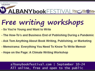 Free writing workshops at the Albany Book Festival!