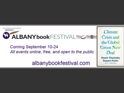 "Albany Book Festival: ""Global Green New Deal"" discussion with Noam Chomsky"