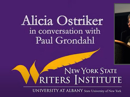 Poetry in the age of coronavirus, with NYS Poet Alicia Ostriker
