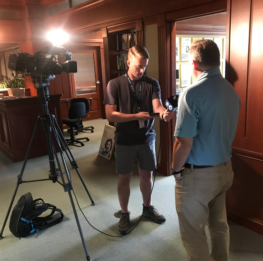 Writers Institute Director Paul Grondahl interviewed by CBS6-TV on Wednesday, August 7, 2019. Grondahl shared recollections of interviewing Toni Morrison for the Albany Times Union newspaper.