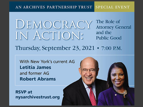 In conversation: NYS Attorney General Letitia James and former Attorney General Robert Abrams