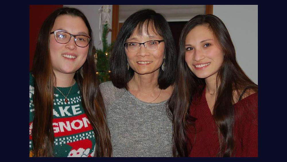 Winnie Yu, and her daughters Samantha Scherer and Annie Scherer
