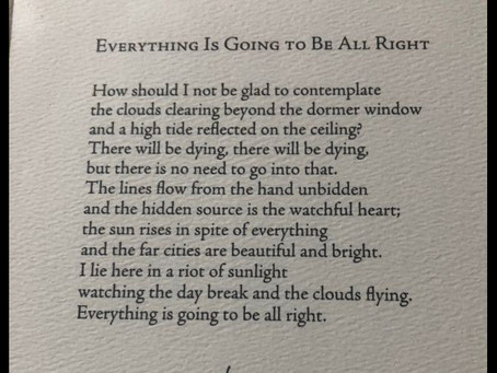 "Poetry Friday: ""Everything is Going to be All Right"""