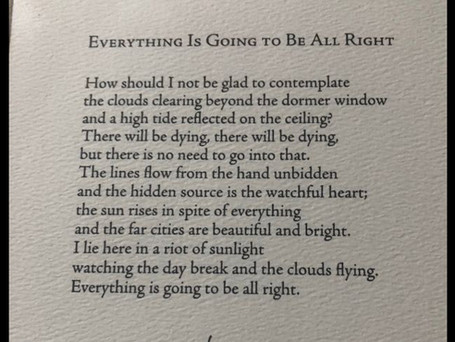 """Poetry Friday: """"Everything is Going to be All Right"""""""