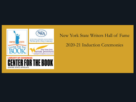You're invited: The NYS Writers Hall of Fame Ceremony (online)