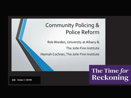 Community policing and police reform