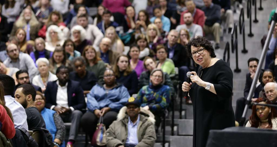 Supreme Court Justice Sotomayor speaks to a capacity crowd at SEFCU Arena on the campus of the  University at Albany on Tuesday, April 4, 2017.