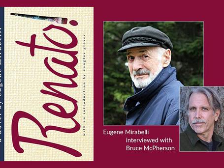 Novelist Eugene Mirabelli and publisher Bruce McPherson