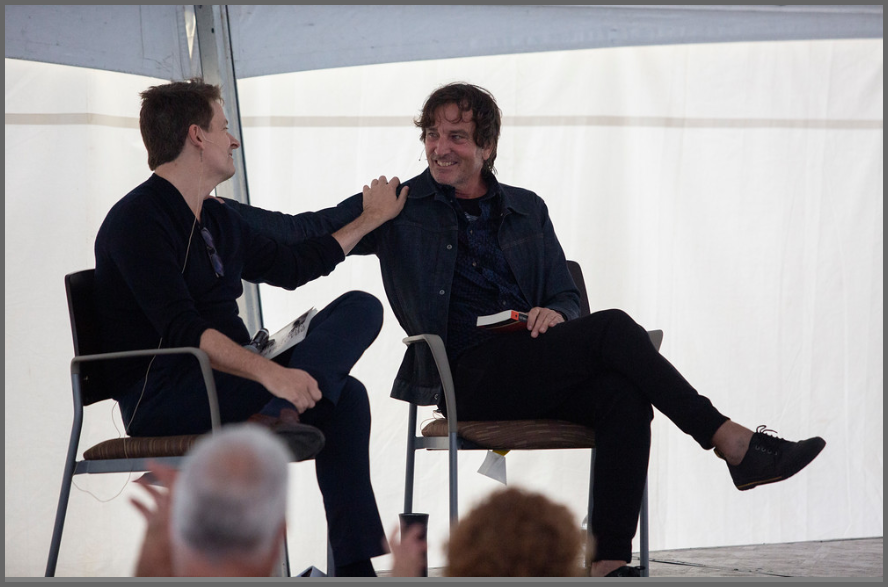 John Searles and Nick Flynn at the Albany Book Festival, 2019