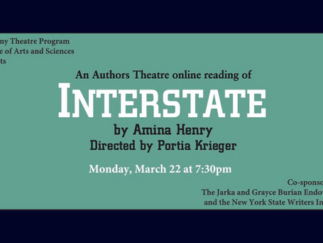 "Authors Theatre special event: ""Interstate"" by Amina Henry"