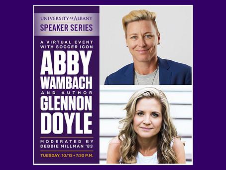 Soccer icon Abby Wambach, author Glennon Doyle discuss women empowerment October 13