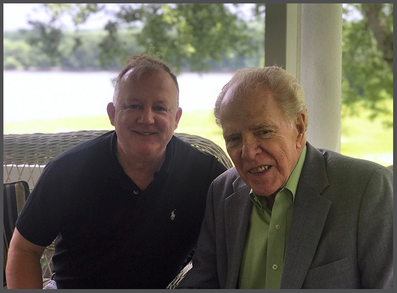 Paul Grondahl and William Kennedy, June 2019. (Photo credit: Michael Huber)