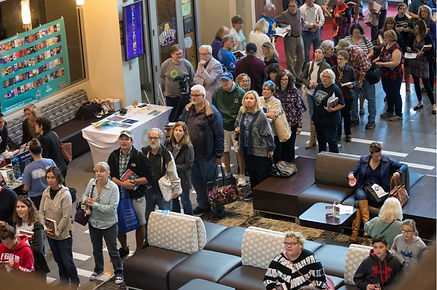 Fans queued up for a book signing with Pulitzer Prize winner Doris Kearns Goodwin at the Albany Book Festival on Saturday, September 29, 2018. (Patrick Dodson / UAlbany)