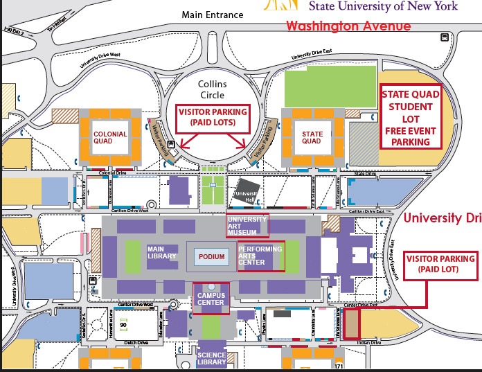 Map- UAlbany Campus Center   NYS Writers Insute on cobleskill campus map, maine campus map, stevens institute of technology campus map, emporia state university campus map, the university of south carolina campus map, idaho state university campus map, cnse campus map, springfield campus map, southeast missouri state university campus map, st. michael's campus map, uw-l campus map, navy campus map, suny campus map, rensselaer polytechnic institute campus map, albany state map, albany medical center campus map, stephen f. austin state university campus map, new york university campus map, university of rochester campus map, uplb campus map,