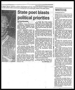 Times Union article 11/14/91