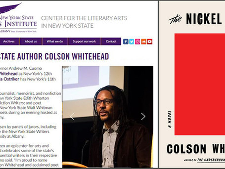 Cheers for NYS Author Colson Whitehead on winning his second Pulitzer Prize