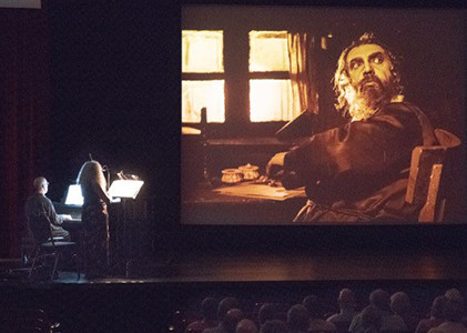 City without Jews, Alicia Svigals and Donald Sosin performing with film