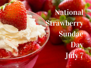 Today's National Strawberry Sundae Day!!! (Who cares?)