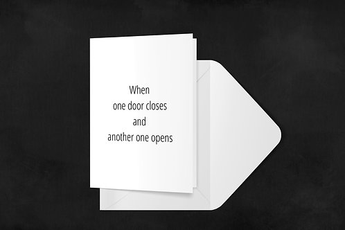 One Door Closes-White