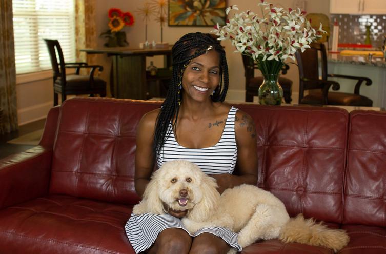 Speaker and Her Dog