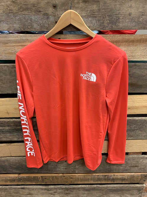 The North Face Women's Reaxion Ciclo LS Tee Cayenne Red