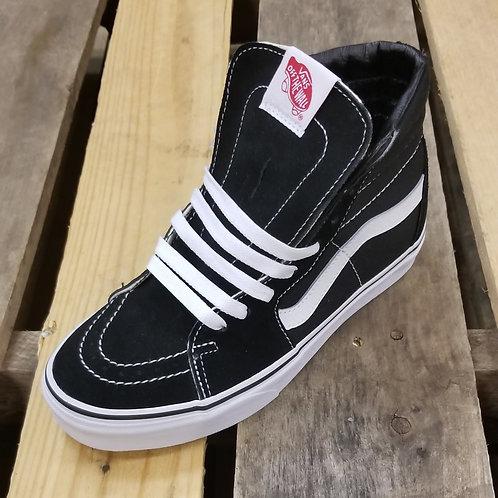 Vans Unisex SK8- HI Shoe Black/White