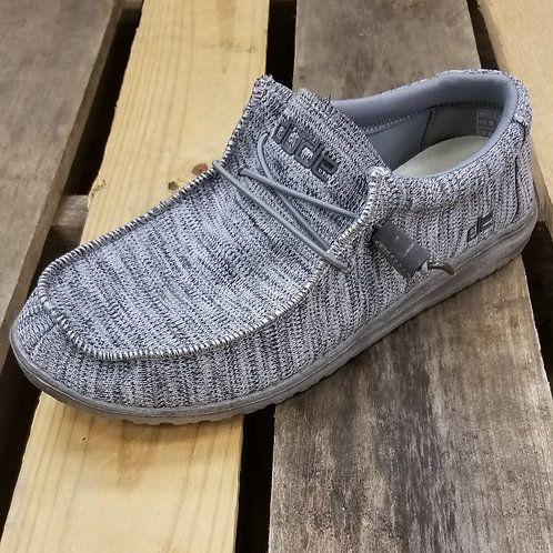 Hey Dude Men's Wally Sox Shoe B Grey