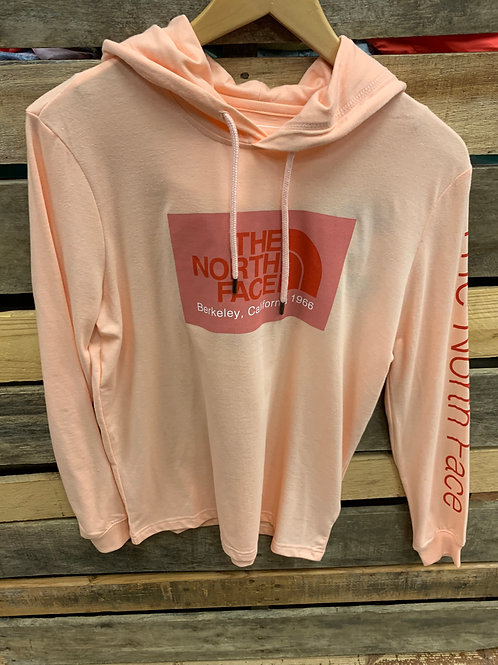 THE NORTH FACE WOMEN'S 66 CALIFORNIA TRI-BLEND PULLOVER HOODIE IMPATIENS PINK