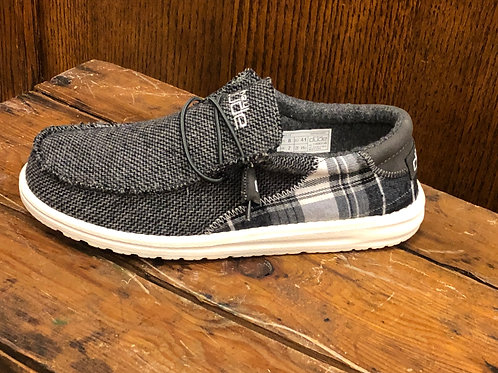 Hey Dude Men's Wally Tartan Grey
