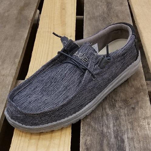 Hey Dude Men's Wally Woven Shoe Carbon