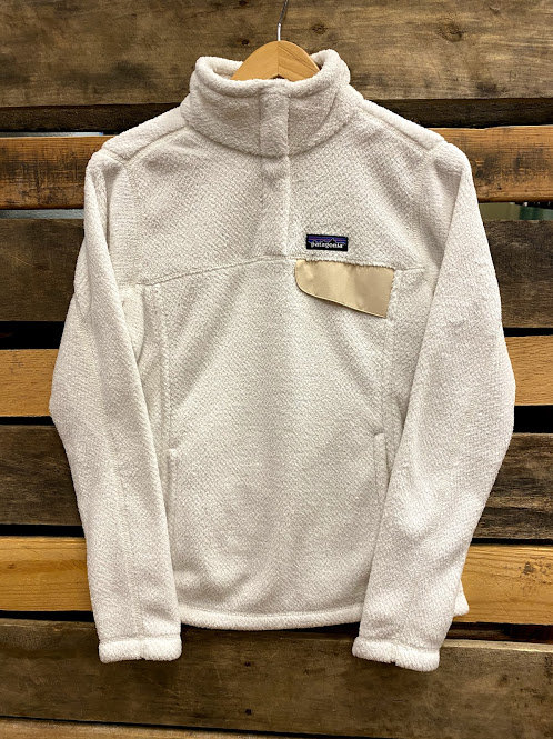 Patagonia Women's White Re-Tool Snap-T Pullover