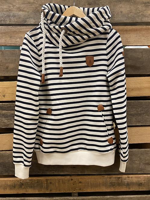 Wanakome Striped Navy Hoodie