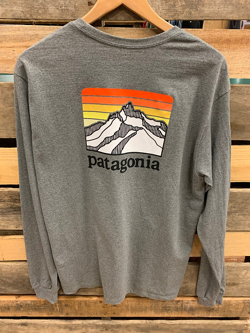 Patagonia Men's Line Logo Ridge LS Gravel Heather