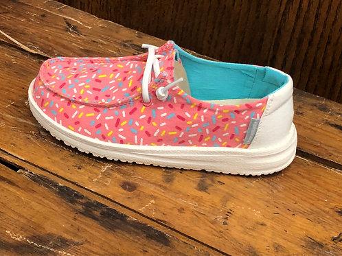 Hey Dude Girls Wendy Youth Print Pink Sprinkles