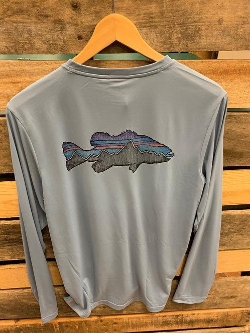 Patagonia Men's Capilene Cool Daily Fish Shirt Berlin Blue