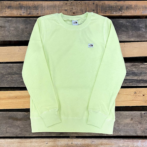 Women's The North Face Heritage Patch Crew - Pale Lime Yellow
