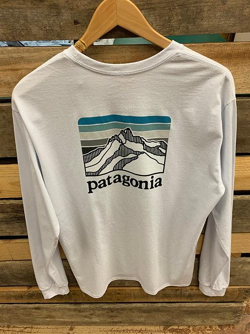 Patagonia Men's Line Logo Ridge LS White