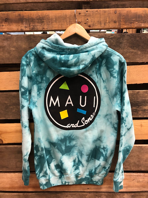 Maui and Sons Men's Cookie Logo PO Aqua Haze