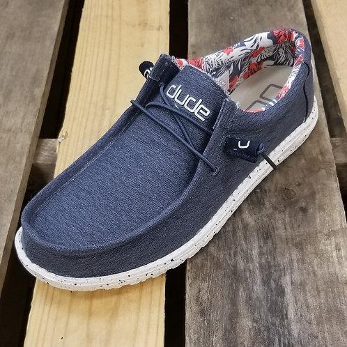 Hey Dude Men's Wally Stretch Shoe Blue