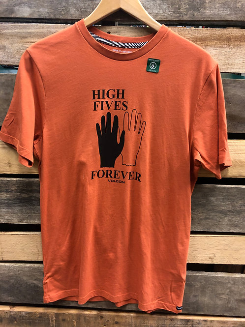 Volcom Men's High Fives Tee Burnt Orange