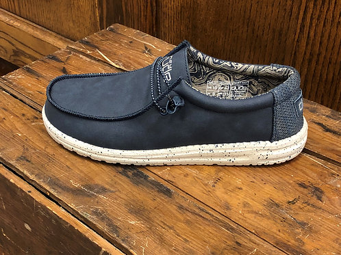 Hey Dude Men's Wally Recycled Leather Navy