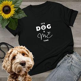 black printed t shirt for women. dog lover gift