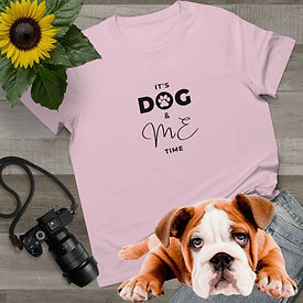 Printed T Shirt for women. Dog Mum T Shirt.