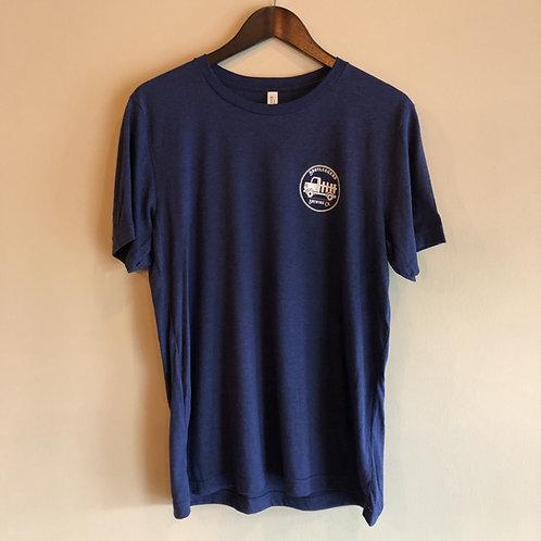 Men's Tri-Blend Tshirt Blue