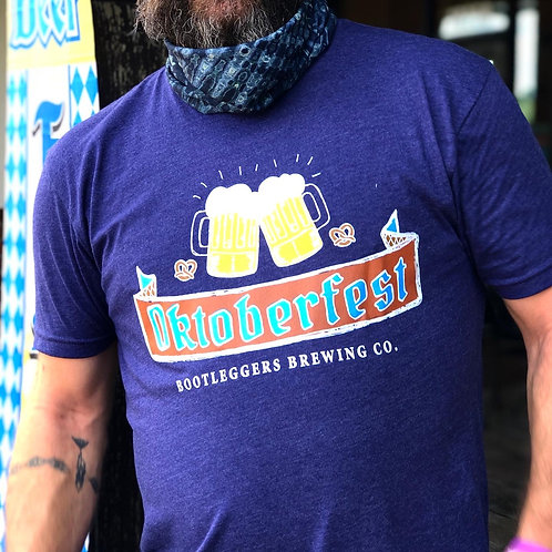 Bootleggers 2020 Oktoberfest Tshirt Blue