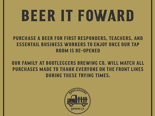 Beer It Forward For Front Line Workers