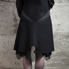 Uneven clothing, unique, handmade in canada back of the night ritual jacket