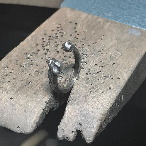 Cat Bone open ring
